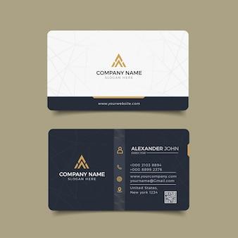 Cartão de visita moderno corporativo profissional