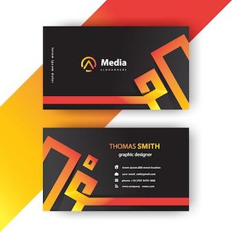 Cartão de visita moderno corporativo