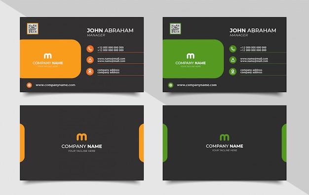 Cartão de visita moderno criativo e cartão de visita