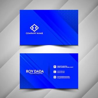 Cartão de visita moderno de cor azul