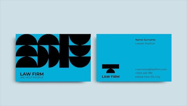 Cartão de visita moderno de lei duotônica