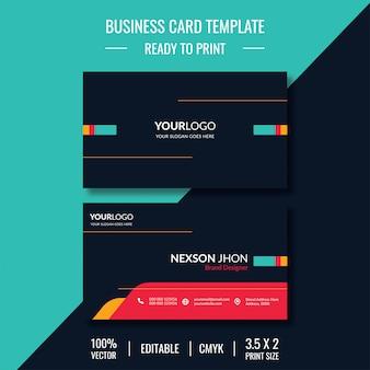 Cartão de visita moderno do modelo