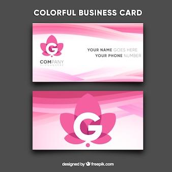 Cartão de visita moderno e colorido