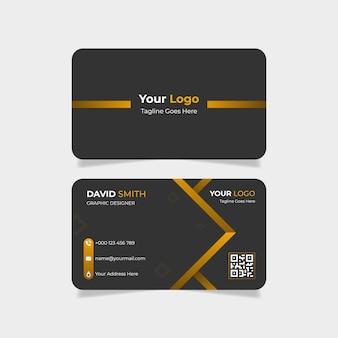 Cartão de visita moderno gradiente dourado