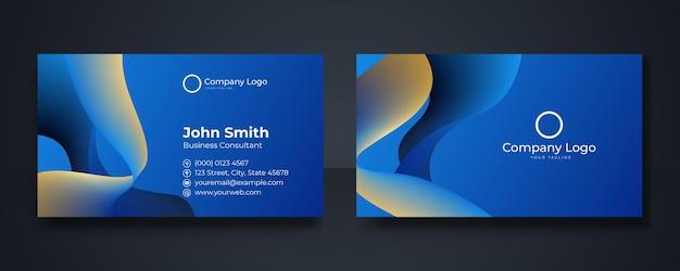 Cartão de visita moderno inteligente, ilustração vetorial, fundo azul escuro