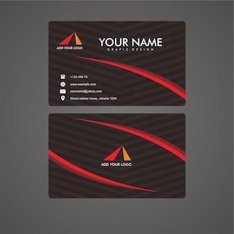 Cartão de visita moderno preto digital