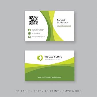 Cartão de visita moderno verde