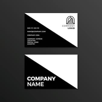Cartão de visita monocromático