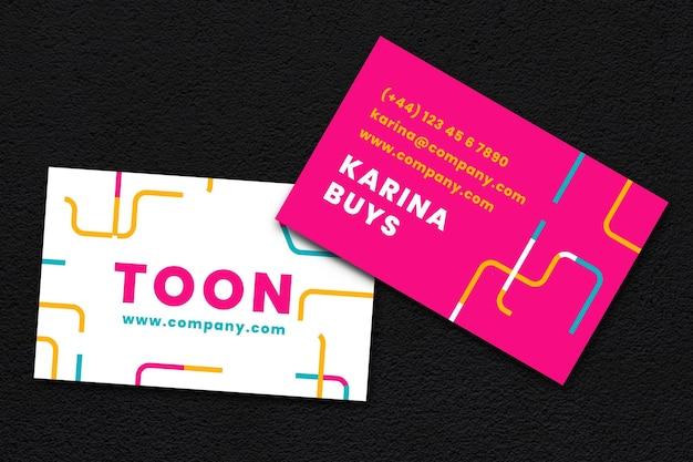 Cartão de visita na cor neon