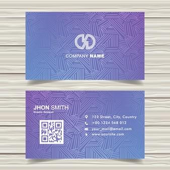 Cartão de visita na moda do vetor da roxo-marinha