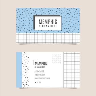 Cartão de visita original com linhas e swuares