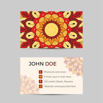 Cartão de visita ou banner com modelo de texto.