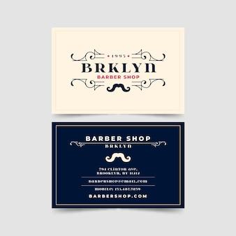 Cartão de visita para barbearia em brooklyn
