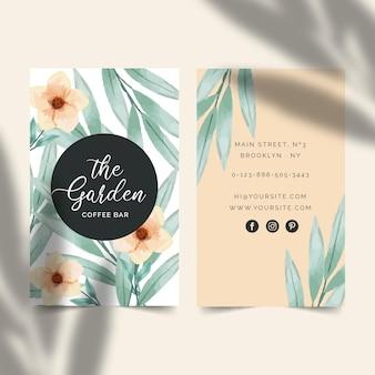 Cartão de visita para café