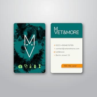 Cartão de visita para empresas veterinárias