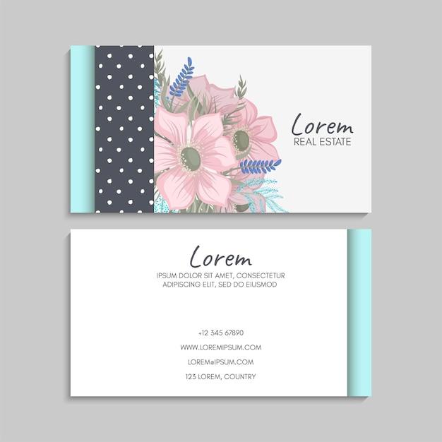 Cartão de visita para floricultura.