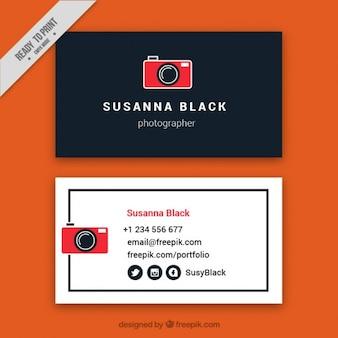 Cartão de visita para fotografia