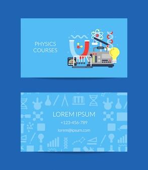 Cartão de visita para laboratório de ciências ou cursos