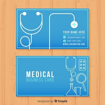 Cartão de visita para o médico
