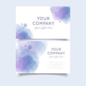 Cartão de visita pastel cores degradê e pinceladas