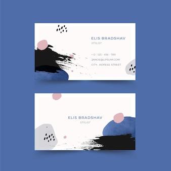 Cartão de visita pintado à mão branco