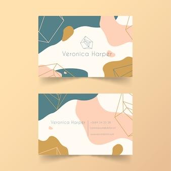 Cartão de visita pintado abstrato