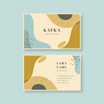 Cartão de visita pintado do artista do design