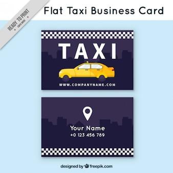 Cartão de visita plano de táxi