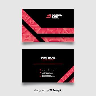 Cartão de visita poligonal abstrato
