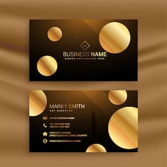 Cartão de visita premium círculo dourado