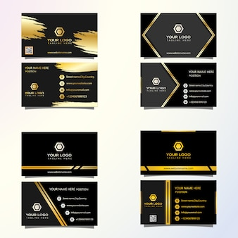 Cartão de visita premium de luxo pronto para imprimir