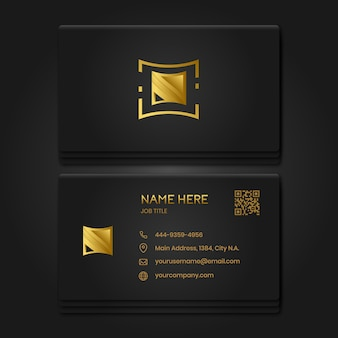 Cartão de visita premium ouro