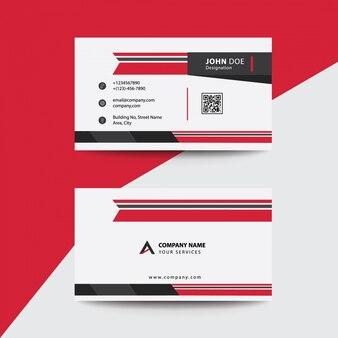 Cartão de visita premium vermelho e preto premium