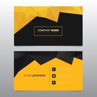 Cartão de visita preto e amarelo