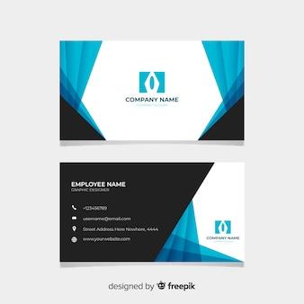 Cartão de visita preto e azul
