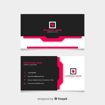 Cartão de visita preto e rosa