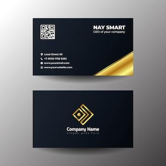 Cartão de visita preto simples