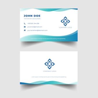 Cartão de visita profissional elegante