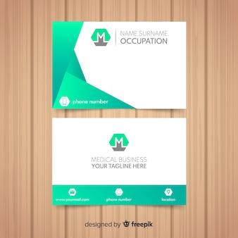 Cartão de visita profissional moderno para o hospital ou o doutor