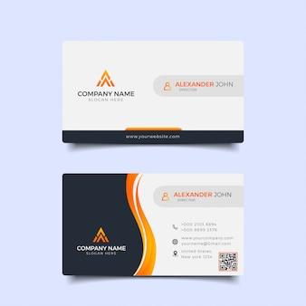 Cartão de visita profissional moderno premium