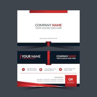 Cartão de visita profissional na cor vermelha