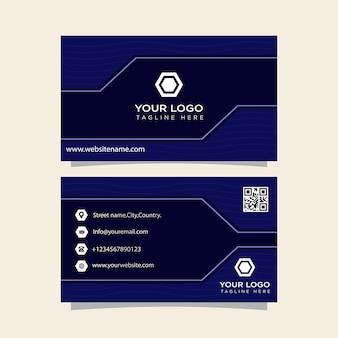 Cartão de visita pronto para imprimir