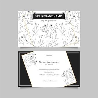Cartão de visita realista com flores