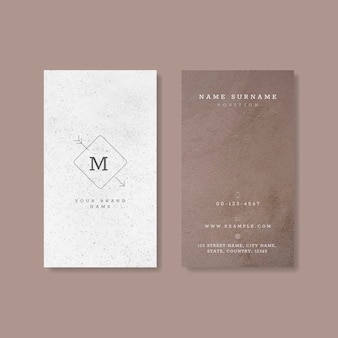 Cartão de visita roxo branco