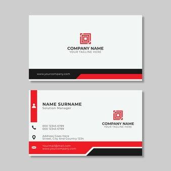 Cartão de visita simples com formas vermelhas