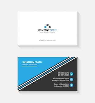 Cartão de visita simples com logotipo ou ícone para o seu negócio