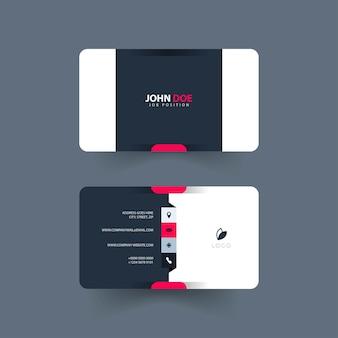 Cartão de visita simples e moderno Vetor Premium