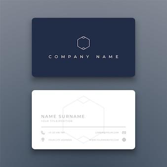 Cartão de visita simples moderno em branco