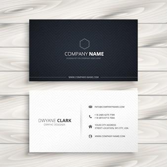 Cartão de visita simples preto e branco