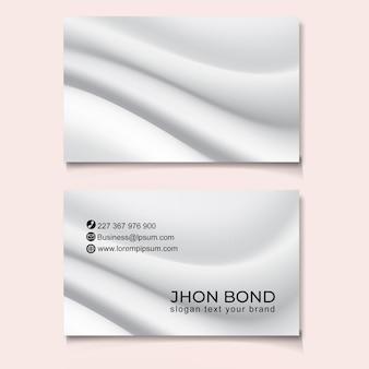 Cartão de visita tempelado design moderno na moda